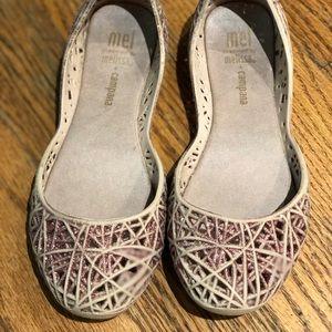 Pink sz 12 Mini Melissa scented ballet shoe